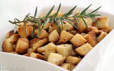 Croutons com Azeite, Alecrim e Flor de Sal