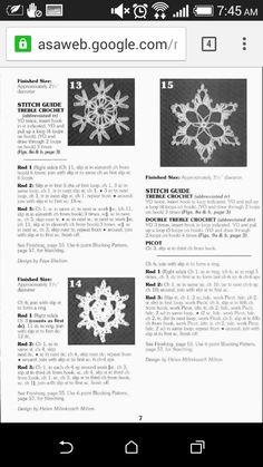 Crochet snow flakes