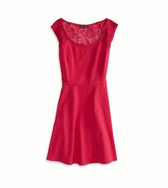 Red Lace Back Party Dress from American Eagle #poachit