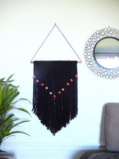DIY tassels wall hanging - tuto in french w/lot of pics