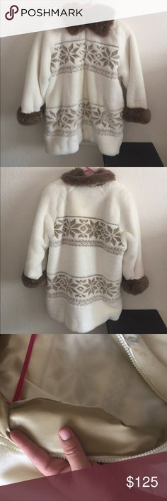 Vintage Nordic Lights Fur coat Nordic lights FUR coat in used great used condition zippers work perfectly. Leather lining. Nordic lights Jackets & Coats Puffers