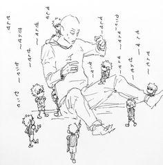 "OnePunch-Man #opm #saitama #genos #chibi_genos : ""Sensei,sensei..."""