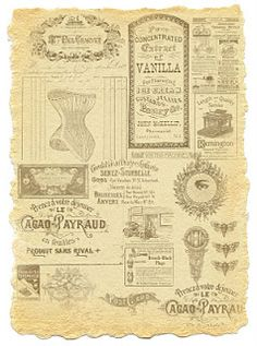 free printable vintage catalog sheet