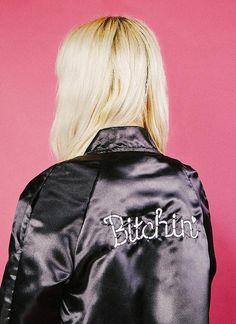 Bitchin' Satin Bomber Jacket