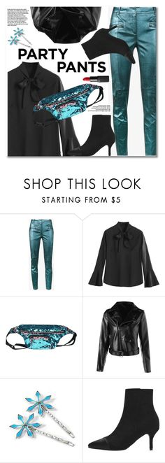 """Party pants"" by gamiss ❤ liked on Polyvore featuring Sies Marjan, NARS Cosmetics, casual, blackbooties, polyPresents, zaful and gamiss"
