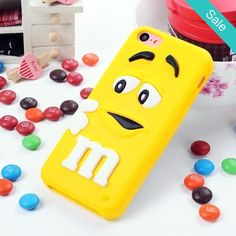 Yellow M&M Silicone iPhone 5 & 5S Case - On Sale for $7.50 (was $24.99) #iphoneonly
