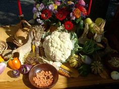 This harvest table was put together by a friend a few years ago. The colors and the bounty in the arrangement create the perfect vision to welcome autumn.