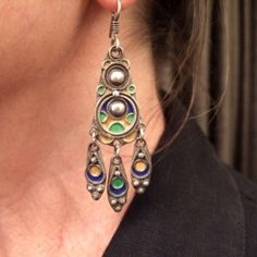 """The same earring worn... www.halter-ethnic.com...see """"My Lucky Finds"""""""