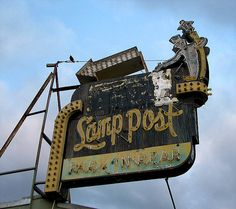 The Lamp Post - Fresno, California by Vintage Roadside, via Flickr Had a biker birthday party there for Danny once.  Kurt Patterson threw the cake in his face....jerk!!!