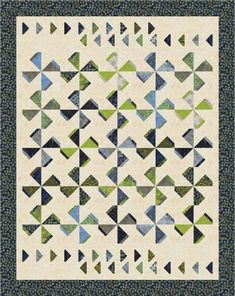 Cloverleaf Quilt Pattern MD-65 by Marlous Designs - Marlous Carter. Advanced beginner, pieced quilt pattern. Crib, lap and throw, twin, double/full & queen sizes.