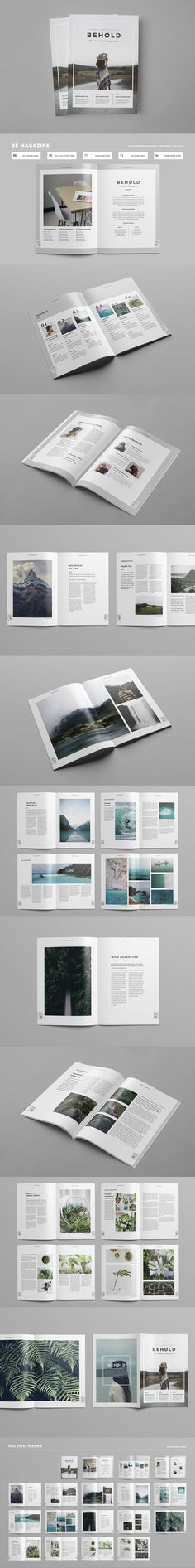 Clean & Professional Magazine Template INDD With Include A4 & US Letter Size. 36 Pages