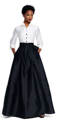 Taffeta Blouse with Ball Skirt $209.00 AT vintagedancer.com
