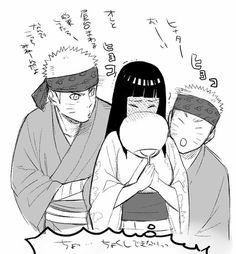 Naruto x Hinata = NaruHina Hinata Hyuga, Sasuke, Naruto Shippuden Anime, Uzumaki Family, Naruto Family, Naruto Couples, Naruhina Doujinshi, Sasuhina, Otaku Anime