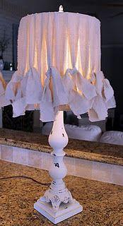 Lampshade Tutorial #diy #crafts #wedding www.BlueRainbowDesign.com