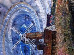 New work in progress(close up) by Rachel Wright. #cleywindmill #contemporaryembroidery #machinestitching #norfolk #RachelWright #embroidery
