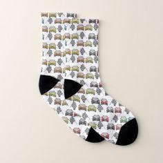 fun race car sports pattern unisex socks - patterns pattern special unique design gift idea diy