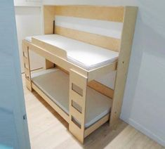 How to build a side fold murphy bunk bed twin bunk beds cabin and prefinished plywood - Nachtkastje voor loftbed ...