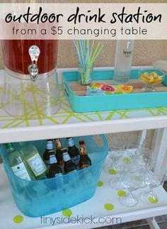 An Outdoor Drink Station From A $5 Whaaaat?