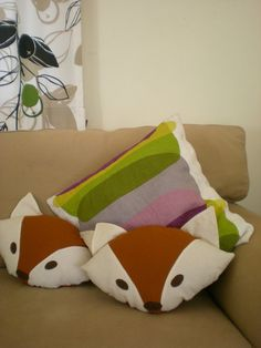 Fox Pillow pdf electronic pattern by tiddliwinktoys on Etsy