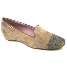 60462f2d Callaghan 17977 Viki, zapatos de estilo bailarina casual sleeper para mujer  hechos con pieles.