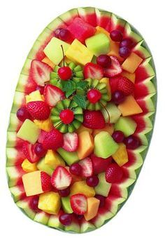 Fruit Basket Watermelon on Pinterest | Watermelon Carving ...I love fruit.  Let's admit it, I love food, but at least fruit is good for you.