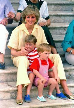 Diana et ses deux enfants