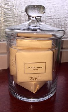 jo malone bathroom decor/storage