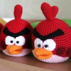 вязаные angry birds злые птички