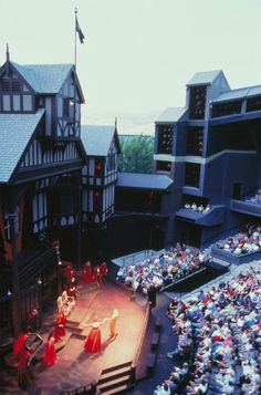 The Oregon Shakespeare Festival, in Ashland, Oregon. The theater has been here since 1935! The season runs from February through early November, and they have three theatres: two indoor stages, the Angus Bowmer Theatre and the Thomas Theatre, and the flagship outdoor Elizabethan Stage, which opens in early June and runs through mid-October. This is a must see when visiting Oregon!