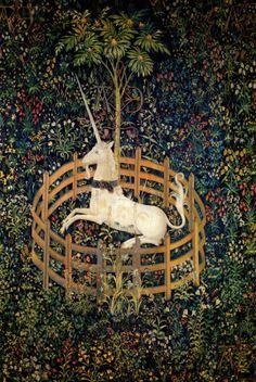 Unicorn tapestry.