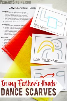 In My Father's Hands - Dance Scarves Lds Primary Songs, Primary Singing Time, Kids Singing, Primary Lessons, Primary Music, Fathers Day Songs, Hand Dancing, Visiting Teaching Handouts, Primary Chorister