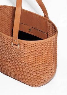 & Other Stories | Braided Leather Tote