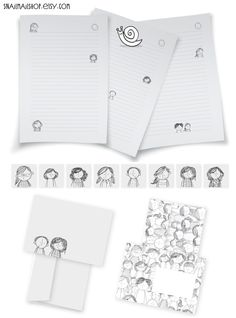 Children Stationery-set with Writing Paper, Envelopes and Stickers for Snailmail (printable) https://www.etsy.com/listing/114388311/children-stationery-set-with-writing