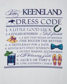 Keeneland Dress Code. Also acceptable for Church Hill Downs!