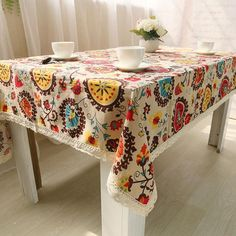Table Cloth Cotton Linen Lace Tablecloth Dining Table Cover #Kitchen_Decoration #Kitchen_Table_Decoration #Kitchen_Accessories