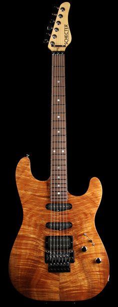 SCHECTER USA Custom Shop CET Custom Koa Electric Guitar Gloss Natural | The Music Zoo