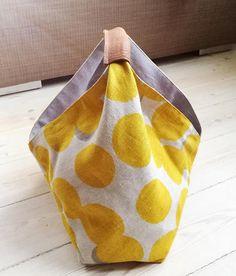 Project Bag //Bento Bag// Tote Bag // Origami Bag // Market