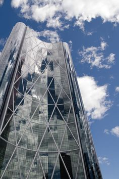The Bow is a 158,000-square-metre (1.7 million sq ft) office building for the headquarters of EnCana Corporation and Cenovus Energy, in downtown Calgary, Alberta.