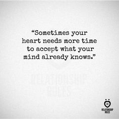 The reality of things....heart vs mind...