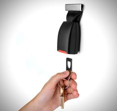 Old Seat Belt = new Key Holder (would be cute in the garage and probably fairly cheap from the junk yard)