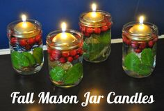 DIY Mason Jar Candles | DIY Home Decor - Fall Mason Jar Candle