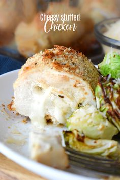Cheese Stuffed Chicken Breasts, this ridiculously delicious dinner recipe is surprisingly easy to prepare! It's lower in carbs and takes only about 10 minutes to prepare. #chicken #recipe #cheese #stuffedchicken #dinner #familyfavorite #easy Delicious Dinner Recipes, Yummy Appetizers, Cheese Recipes, Cooking Recipes, Cheese Stuffed Chicken, Best Cheese, Winner Winner Chicken Dinner, Cooking For Two, Best Chicken Recipes