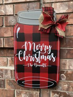 Fantastic Christmas decoration detail are readily available on our site. Take a look and you wont be sorry you did. Christmas Note, Christmas Mason Jars, Plaid Christmas, Rustic Christmas, Christmas Wreaths, Christmas Ideas, Christmas 2019, Christmas Signs, Christmas Christmas