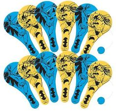 Why get the same candy everyone gets, when you can get these Batastic paddles. Each paddle can be easily held by a child. Yellow or blue what ever you choose will be fun. Now it's time to party.