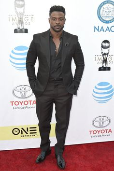 PASADENA, CA - FEBRUARY 11:  Lance Gross attends the 48th NAACP Image Awards - Arrivals at Pasadena Civic Auditorium on February 11, 2017 in Pasadena, California.  (Photo by David Crotty/Patrick McMullan via Getty Images) via @AOL_Lifestyle Read more: https://www.aol.com/article/entertainment/2017/02/12/grammys-2017-red-carpet-arrivals/21712407/?a_dgi=aolshare_pinterest#fullscreen