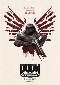 Doom 4, Doom Game, Doom 1993, Video Game Posters, Video Game Art, Goblin, Graffiti Doodles, Heavy Metal Art, Gaming Posters