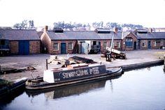 Stewart & Lloyd tug moored at Sneyd wharf. Date August 1959 Birmingham Canal, Birmingham England, Canal Boat, Narrowboat, Tug Boats, Rivers, Lakes, Britain, Van