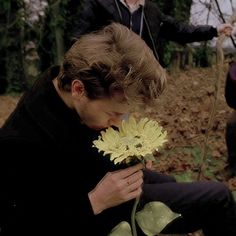River and his sunflower