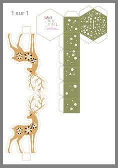 Pin by Галина Орлова on Бумага Simple Christmas Cards, Christmas Paper Crafts, Christmas Makes, Christmas Art, Christmas Projects, Christmas Templates, Christmas Printables, Christmas Activities, Paper Box Template