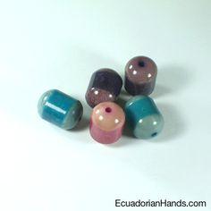Bicolor Tube 24x17mm Tagua Bugle Bead (8 units) $7.49